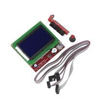 12864 Display LCD 3D Printer Controll Panel + Adapter for RAMPS 1.4 Mega... - $17.77