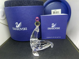 "Swarovski Crystal 7661 000 006 ""Playing Seal"" 622526 MIB Artist Signed,Box & COA - $100.00"