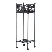 Patio Plant Stand, Cast Iron Square Outdoor Decorative Floor Plant Indoo... - €140,09 EUR