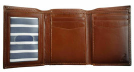 Nautica Men's Leather Credit Card Passcase Wallet Trifold Tan 31NU11X017 image 6