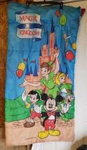 Vintage 90s Walt Disney Magic Kingdom Childs Sleeping Bag 30x57 USA RARE - $99.95