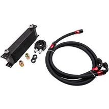 Universal 13 Row Aluminum Oil Cooler Kit Oil Filter Relocation Adapter K... - $145.52