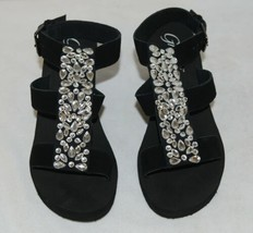Grazie Footwear Ziva Black Jeweled Buckle On Sandal Size 8 And Half image 2