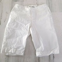 Girls Size 7 Lands End Adjustable Waist White Capri Pants  - $9.69