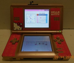 Nintendo DS Lite Launch Edition Metallic Rose Handheld Game System Hello Kitty - $60.78