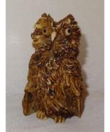 """Vintage Owl Figurine Brown Resin 2"""" Taiwan - $21.04"""