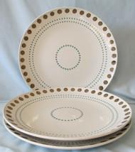 Rachael Ray Sun Daisy Circle & Dots Dinner Plate set of 3 - $27.61