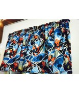 "Spider Man Superhero 42"" W 15"" L Window Curtain Valance Blue Spiderman  ... - $7.91"