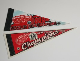 NHL Detroit Red Wings 1997 1998 Stanley Cup Champions Mini Pennant Banners - $17.09