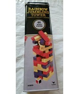Cardinal Rainbow Jumbling Tower Game 48 Wood Pieces Brand NEW 1+ Player  - $7.00