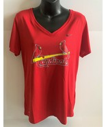 St. Louis Cardinals Women's Nike Dri Fit Red V-Neck Size Large The Nike Tee - $18.69