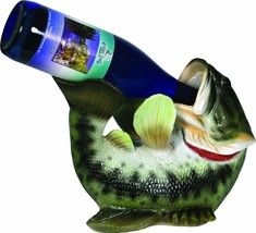 Rivers Edge Wall Mount Bass Wine Bottle Holder NEW - $29.55