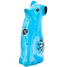 Vaneal Group Hand Carved Kisii Soapstone Light Blue Puppy Dog Miniature Figurine image 2