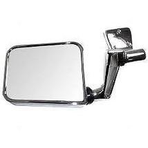 97-02 Jeep Wrangler Left Driver Mirror Manual Chrome Folding Door Hinge MTD - $49.95
