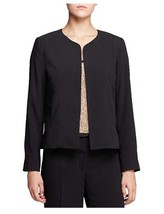 New Eileen Fisher Open Front Collarless Jacket Black Size 6 MSRP$358.00 - $162.25