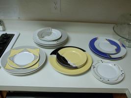 Arita Tondo Cina ~ 14 Piece Set ~ Plates ~ Cirage Ashlar Matiere - $89.09