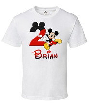 Mickey Mouse Birthday Iron On, Personalized Mickey Mouse Image Transfer - $3.50+