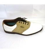 FootJoy Golf Saddle Shoes Women Size 11.5 M Softjoys Sierra White Tan 58859 - $17.81