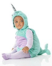 Carters Narwhal Halloween Costume Size 3/6 Months Boy or Girl 3 Piece Set - £29.31 GBP