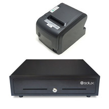 "Thermal receipt printer 3 "" 1/8 and Cash drawer combo - $210.38"