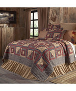 Millsboro Twin Quilt hand-quilted log cabin pattern 70Wx90L  - $170.00