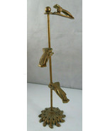 Vintage Glo-Mar Art Works INC Mid Century Victorian Brass Stand Clip Hol... - $50.00