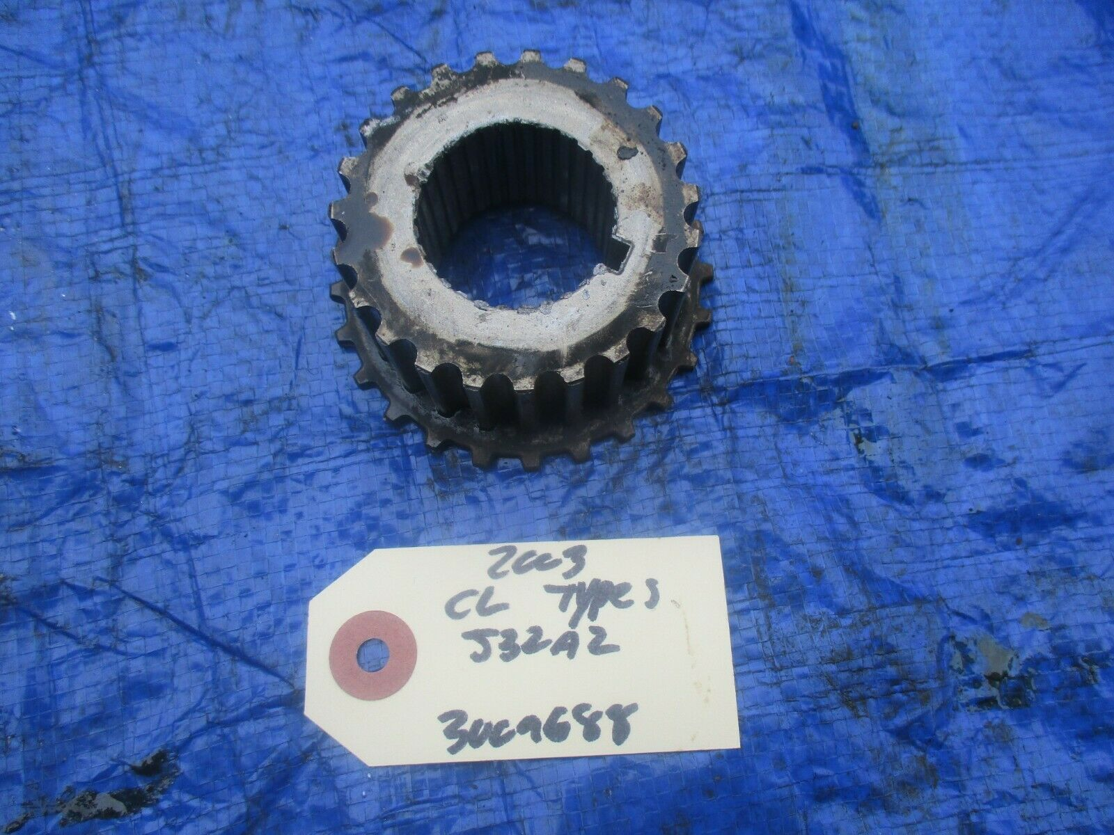 Primary image for 01-03 Acura CL Type S J32A2 timing belt gear OEM 3009688 J32 PGE crankshaft