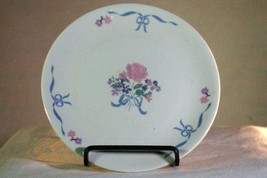 Tabletops Unlimited Floral Bouquet And Bow Bread Plate - $2.76