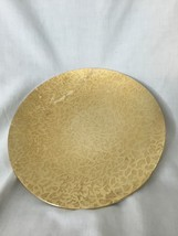 """""""VINTAGE KENSINGTON MOIRE 10"""" """"GOLD TONE Round plate"""" SOME CHIPS/WEAR - $12.83"""