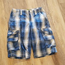 Boy's Lee Dungarees Shorts ~ Sz 14 Regular ~ Loose Fit ~ Adjustable Waist ~ Blue - $14.84