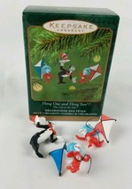 Hallmark Ornament Miniature Set of 3 Thing One & Thing Two Cat in Hat Dr... - $9.85
