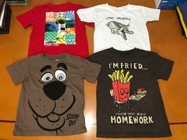 Lot of 4 Boys Gap Kids Red Scooby Doo Brown White T-Shirts Size XS 4-5  - $19.79