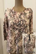 Dana Buchman Top Size Large Back Zip 3/4 Sleeves 60% Cotton 40% Viscose GUC - $11.87