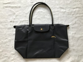 Longchamp Club Le Pliage Bag Gray Metal Large L1899619300 - $94.99