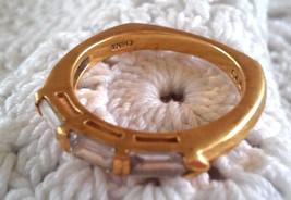 Vintage ADI Gold Over STERLING CZ Baguettes Wed... - $18.00