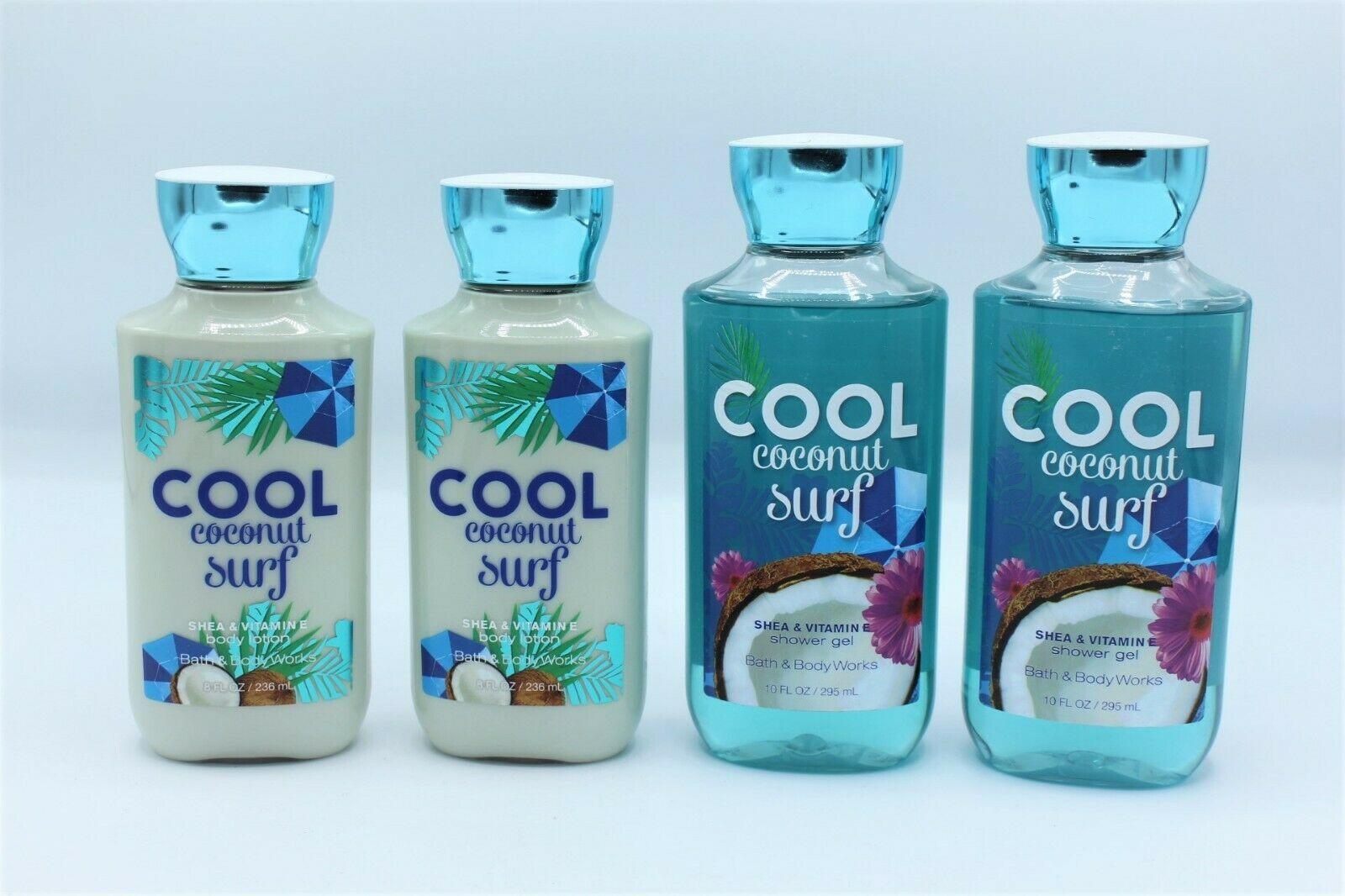 Bath & Body Works Cool Coconut Surf Body Lotion Shower Gel Lot of 4