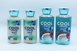 Bath & Body Works Cool Coconut Surf Body Lotion Shower Gel Lot of 4 - $39.99