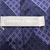 GEOFFREY BEENE Hand Made Polyester Purple Tie Diamond Necktie image 3