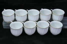 Mikasa Wedding Band Gold Cups Lot of 9 - $48.99