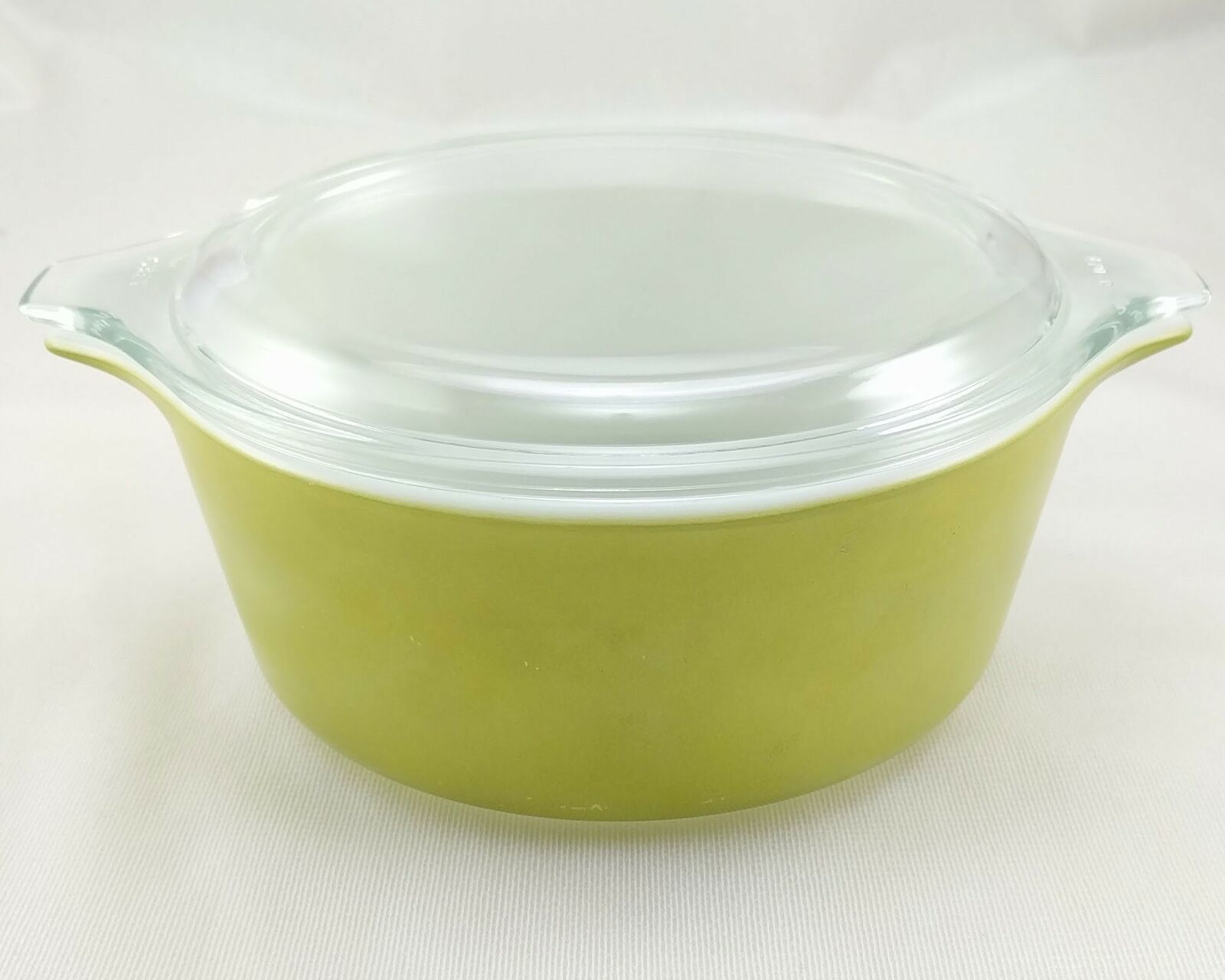 Pyrex 472 Olive Green Vintage 1½ Pint Casserole w/ 470-C Lid ~ Made in the USA