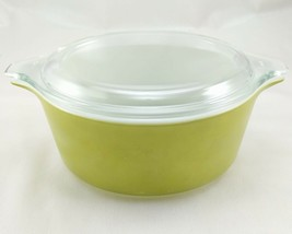 Pyrex 472 Olive Green Vintage 1½ Pint Casserole w/ 470-C Lid ~ Made in t... - $19.95