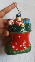Mr. Christmas Stocking Ceramic Decoration Holiday Tree Ornament • pre-owned - $9.09