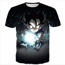 Fashion Casual Hip Hop Womens/Mens t shirt Black Kid Goku Short sleeves ... - $37.74