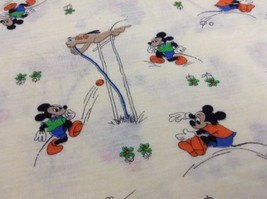 "Vintage Disney Fabric Crafts Mickey Mouse Pluto Yellow T-Shirt Material 36""x 56"" - $48.96"