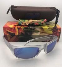 Polarized Maui Jim Sunglasses Stingray Mj 103-05CM Matte Crystal w/ Blue Hawaii - $229.95