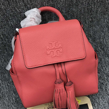Tory Burch Thea Mini Backpack (Color:SPICED CORAL)