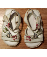 Baby Girl's Size 3 Infant Toddler White Butterfly Designed Carter's Sand... - $1.50