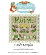 March Monthly Sampler 2017 series cross stitch ... - $10.00