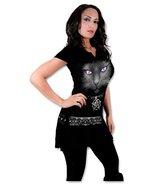 Spiral Direct - Black CAT - Women's Stud Waist Mini Dress Tunic. Made in... - $38.55