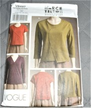 Pattern Vogue Wearable Art Pullover Tops March Tilton V8497 Uncut - $14.35
